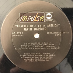GATO BARBIERI:CHAPTER ONE - LATIN AMERICA(LABEL SIDE-A)