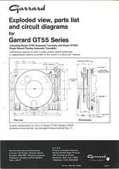 Garrard TechEng Service Manual GT-55 GT-55P