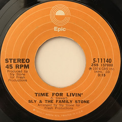 SLY & THE FAMILY STONE:TIME FOR LIVIN'(LABEL SIDE-A)
