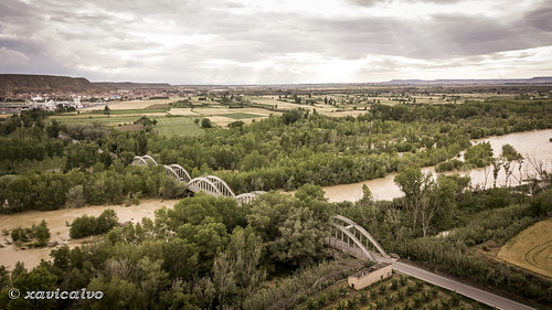 Puente sobre el rio Cinca (Alcolea de la Cinca) - Etapa 2 BCN-Cenicero miercoles 30 mayo