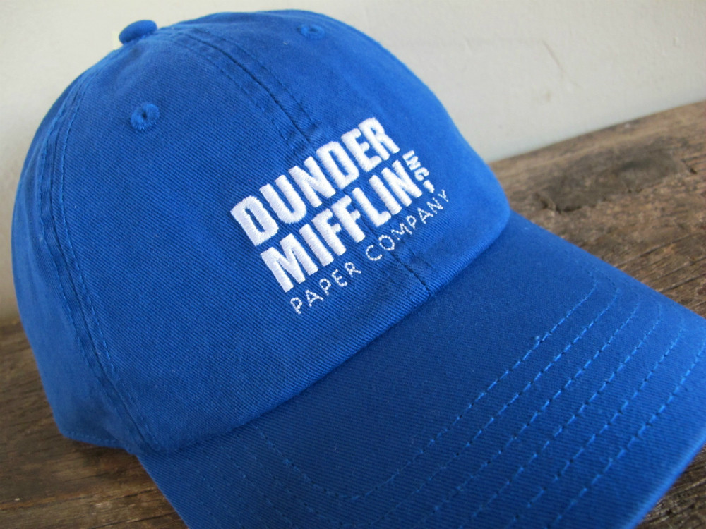Authentic NBC The Office DUNDER MIFFLIN blue Dad Hat Cap dwight tv ... ca85990a582