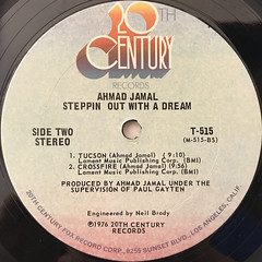 AHAMAD JAMAL:STEPPIN OUT WITH A DREAM(LABEL SIDE-B)