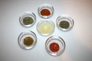 03 - Gewürze für Gyrosmarinade / Ingredient seasonings for gyros marinade