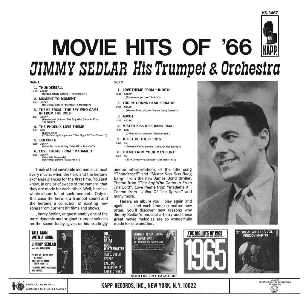 Jimmy Sedlar - Movie Hits of '66 b