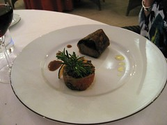 CHATEAU D'ETOGES, MENU GOURMANDE, CRISPY LAMB FILLET WITH HERBS, CONFIT AUBERGINE, TOMATO FONDUE 009 - Photo of Beaunay