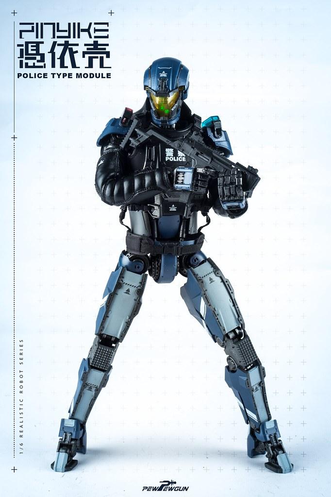 PEW PEW GUN 1/6 比例 機械人型素體-警用型模組 & 配件包
