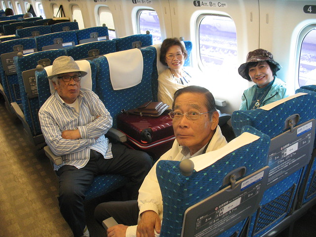 Shinkansen Hikari, How to rotate the seat 5