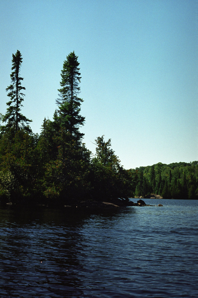 Island Campsite in Chapleau Crown Land | A view of our islan