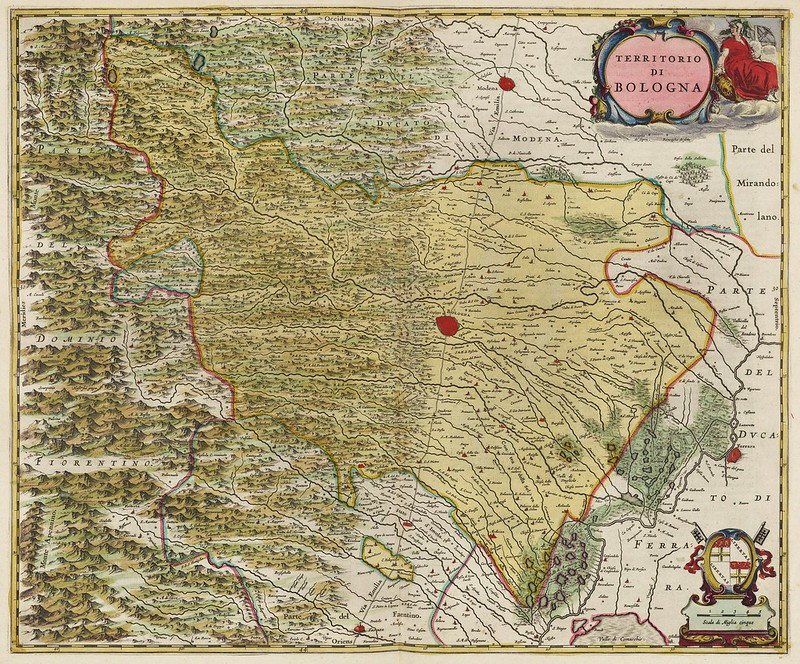 Joan Blaeu - Territorio di Bologna (1665)