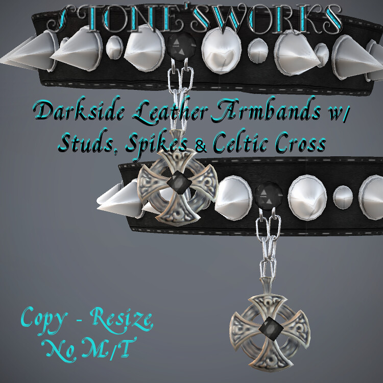 Darkside Leather Armbands Stone's Works - TeleportHub.com Live!