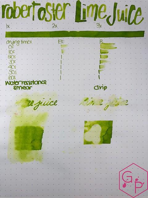 @RobertOsterInk Lime Juice Ink Review @MilligramStore 12