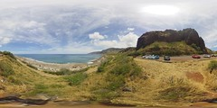 View from the Makua Cave area - a 360 degree Equirectangular VR