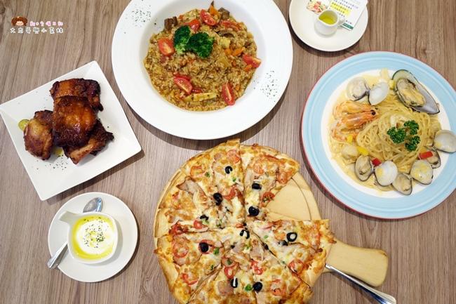 《新竹》芙歐FULLPASTA義式餐廳~環境舒適友善親子,餐點醬料濃郁食材實在,義大利麵、燉飯、披薩都好吃!近清大(影片