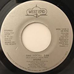 STONE:TIME(LABEL SIDE-A)