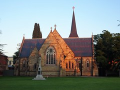 Albury. Morning light on the Anglican Church. Part of it dates from 1857.
