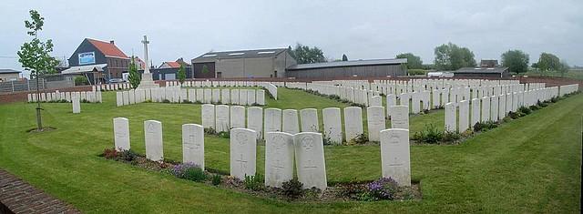 St Julien Dressing Station Cemetery Graves