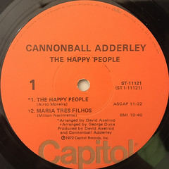 THE CANNONBALL ADDERLEY QUINTET:THE HAPPY PEOPLE(LABEL SIDE-A)