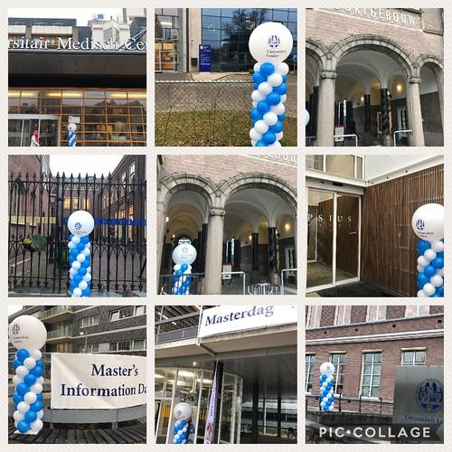 Ballonpilaar Breed Bedrukt Leidsche Universiteit Leiden