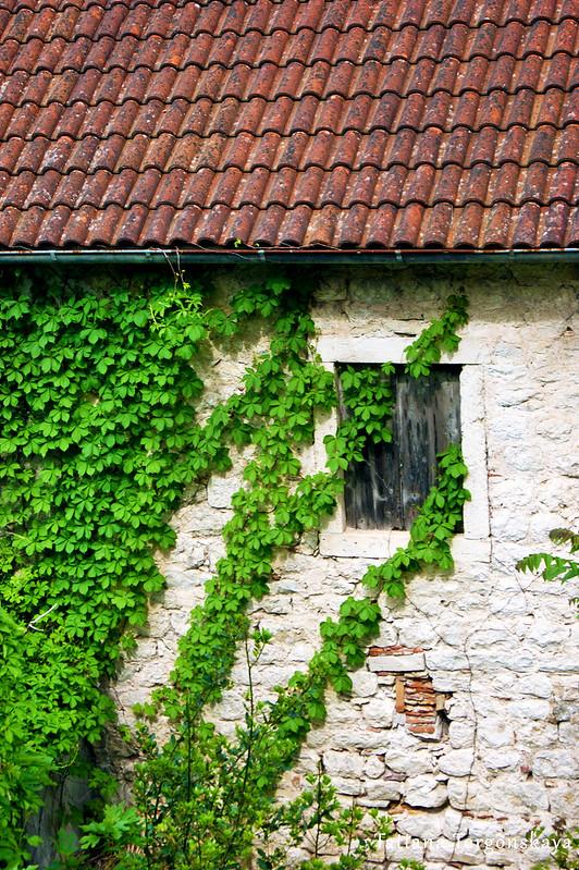 Стена старого дома из Прчаня
