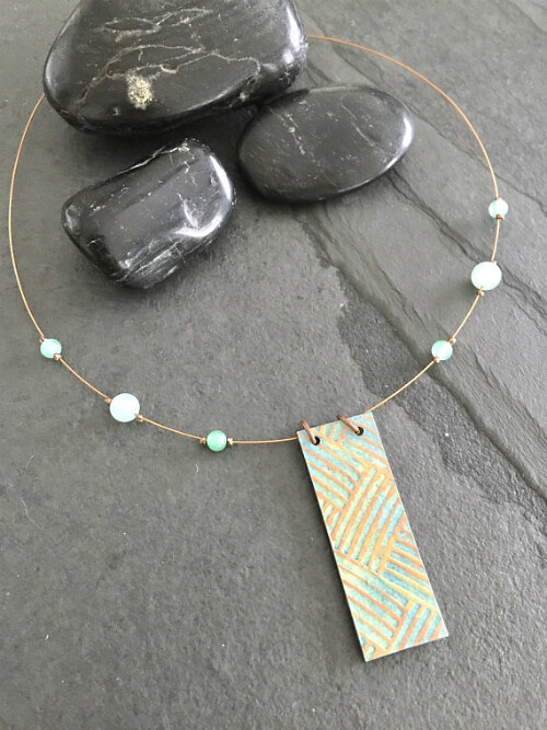 Painted Paper Necklace by Atomic Paper