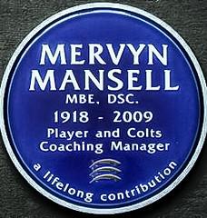 Photo of Mervyn Mansell blue plaque