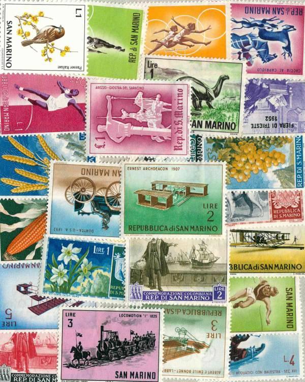 Známky 26 ks rôznych, San Marino