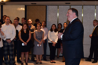 Secretary Pompeo Meets With U.S. Embassy Staff in Singapore