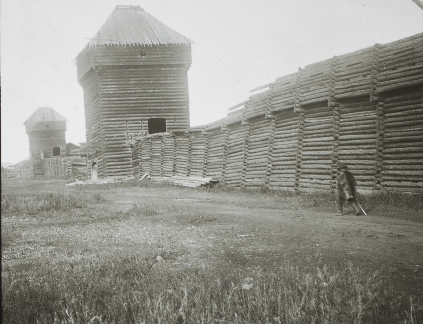 Якутская область. Якутск. Развалины старой казацкой крепости (острог)