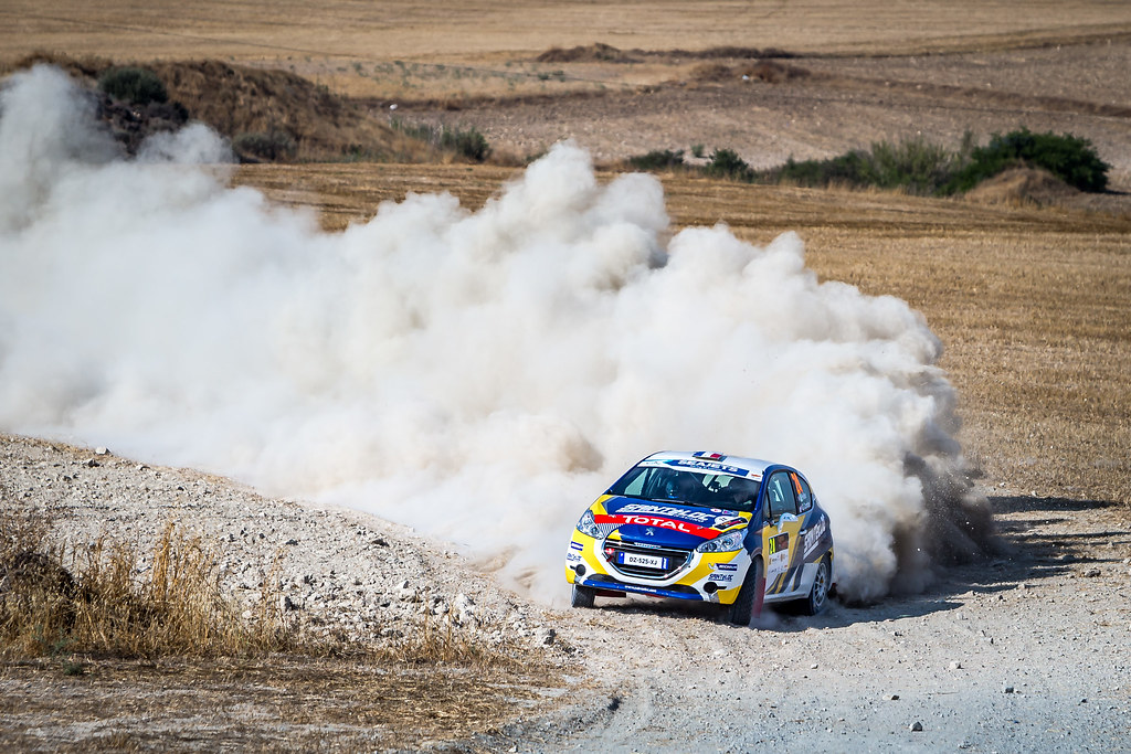 24 PELLIER Laurent (FRA), COMBE Geoffrey (FRA), SAINTELOC JUNIOR TEAM, PEUGEOT 208 Vti, action during the 2018 European Rally Championship ERC Cyprus Rally,  from june 15 to 17 at Larnaca, Cyprus - Photo Thomas Fenetre / DPPI