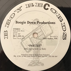 BOOGIE DOWN PRODUCTIONS:POETRY(LABEL SIDE-A)