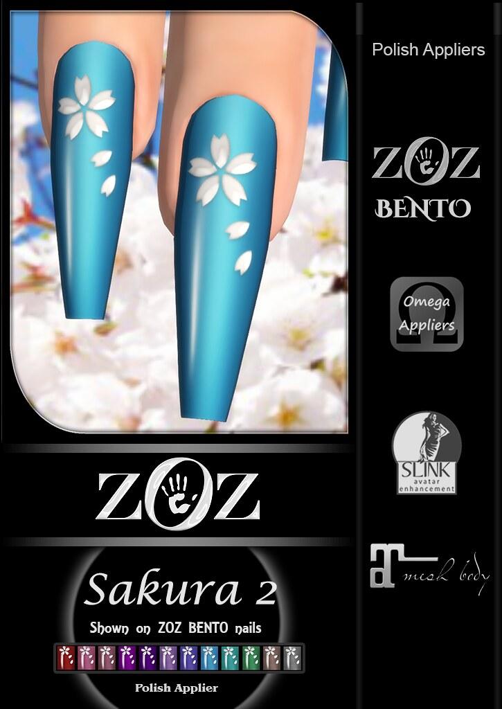{ZOZ} Sakura 2 pix bento L
