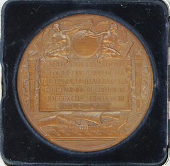 Columbian Exposition Official Award Medal reverse