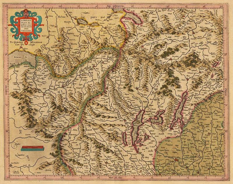 Henricus Hondius & Gerhard Mercator - Lombardiae alpestris pars occidentalis cum Valesia (c.1610)