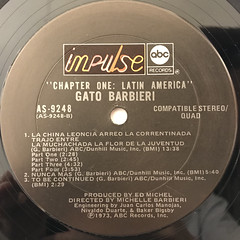 GATO BARBIERI:CHAPTER ONE - LATIN AMERICA(LABEL SIDE-B)