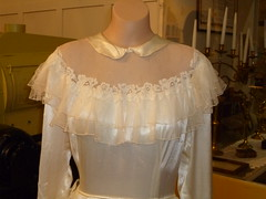Ruth Jenkin wedding gown detail 1952