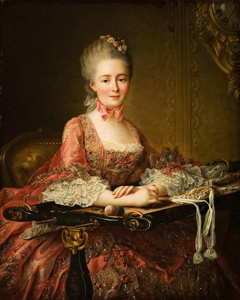 Francois Hubert Drouais - Marquise de Caumont La Force (1767)