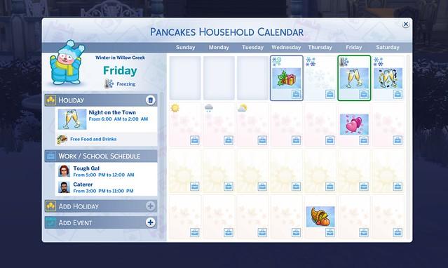 Imagem Completa do Calendário do The Sims 4 Estações