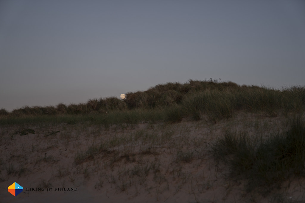 Moonrise behind the Portstewart Strand Dunes