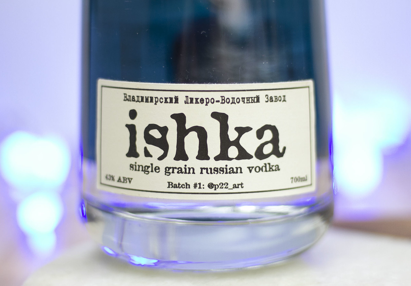 ishka bottle vodka