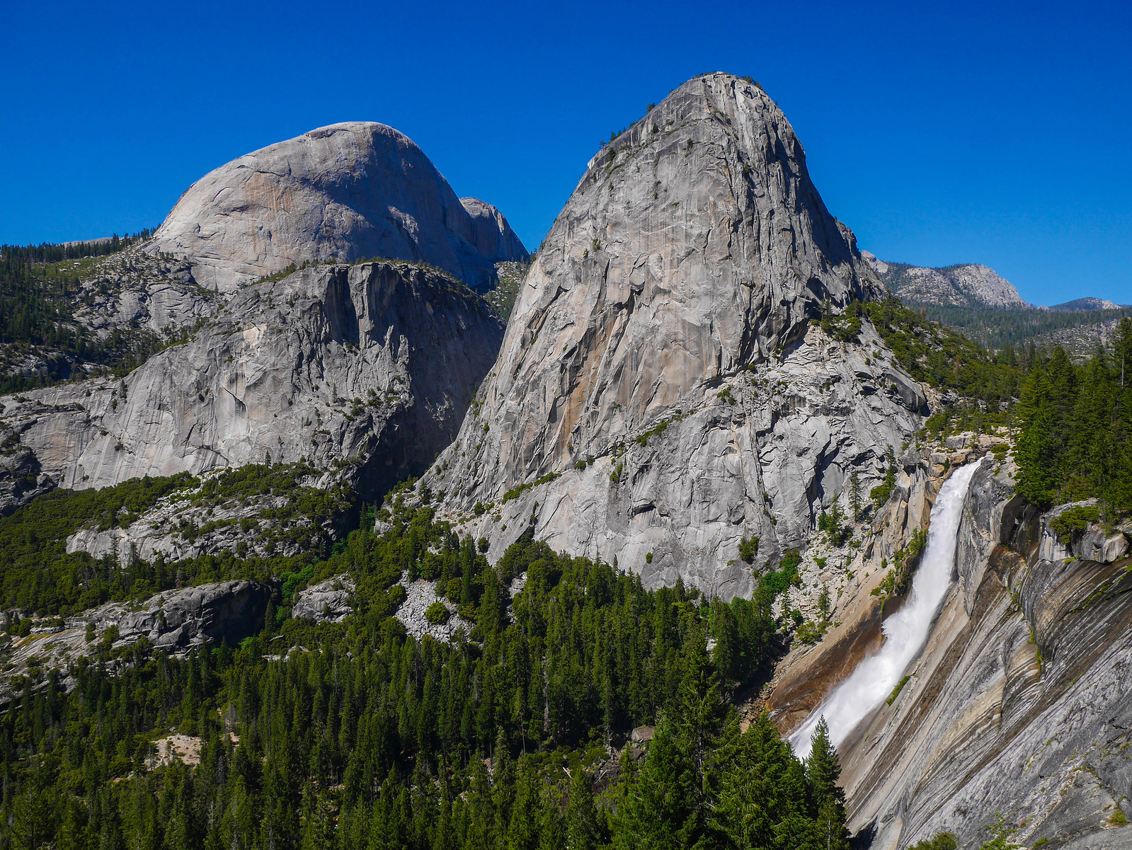 Nevada Fall, Liberty Cap, Mt Broderick