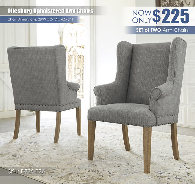 Ollesburg Upholstered Arm Chairs_D725-02A