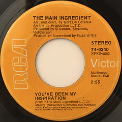THE MAIN INGREDIENT:YOU'VE BEEN MY INSPIRATION(LABEL SIDE-A)