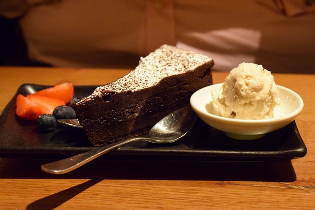Chocolate Cake with Berries and Ice Cream at Roti Chai, Marylebone #indian #smallplates #marylebone #london