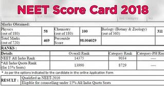 NEET Score Card