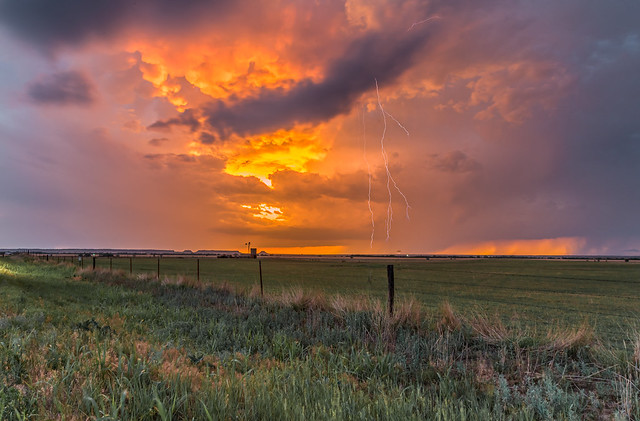 Storms at Sunset on the Oklahoma Plains