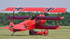 Fokker Dr.I Dreidecker / Les Casques De Cuir - Collection Salis Association / F-AYDR - Photo of Mennecy