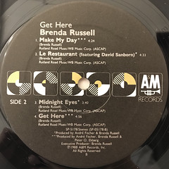 BRENDA RUSSELL:GET HERE(LABEL SIDE-B)