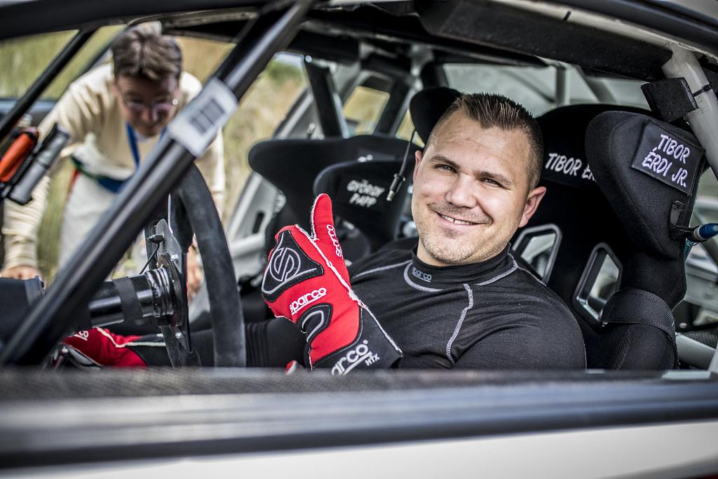 ERDI jr  TIBOR (hun), PAPP Gyorgy (hun), Mitsubishi Lancer EVO X, portrait during the European Rally Championship 2018 - Acropolis Rally Of Grece, June 1 to 3 at Lamia - Photo Gregory Lenormand / DPPI