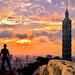 Sunset @ Taipei 101 Building by Jennifer 真泥佛