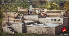 Trompe Loeil - Corazon Patio Pool & Palm Chairs for FaMESHed June